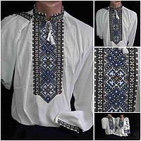"""Оригинальная мужская вышиванка """"Святодар"""" на домотканке, 44-58 размер, 600\550 (цена за 1 шт. + 50 гр.)"""