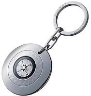 Компасс - брелок на ключи круглый, серебристый  (Оі) сталь Dalvey D00658.