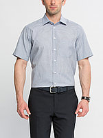 Мужская рубашка LC Waikiki с коротким рукавом белого цвета в голубую клетку, фото 1