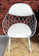 Кресло металлическое Вики Dom,цвет белый