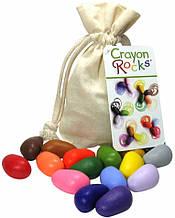Олівці-камінчики Crayon Rocks 16 кольорів у бавовняному мішечку