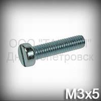 Винт М3х5 ГОСТ 1491-84 (DIN 84, ISO 1207) оцинкованный с цилиндрической головкой