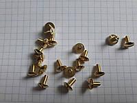 Винт крепежный M0720 золото 7 мм