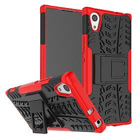 Чехол накладка для Sony Xperia XA1 G3112 противоударный с подставкой, красный