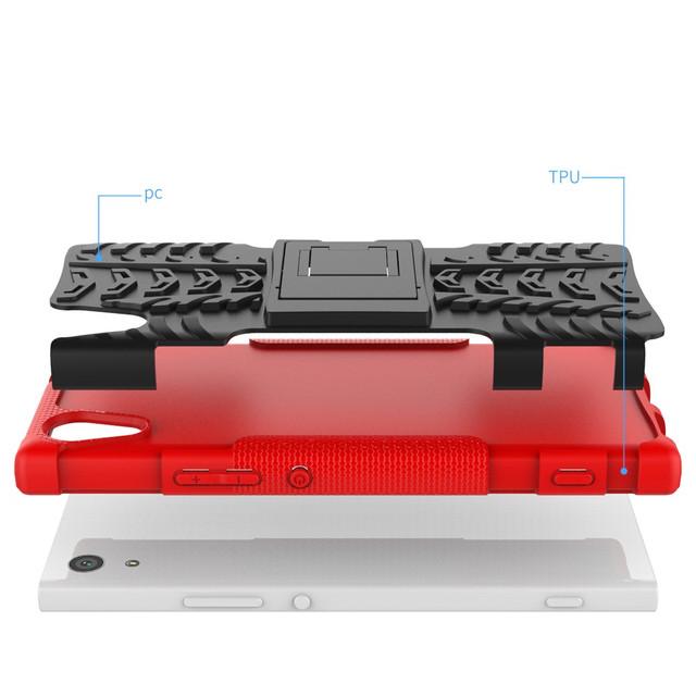 чехол накладка Sony Xperia XA1 противоударный красный