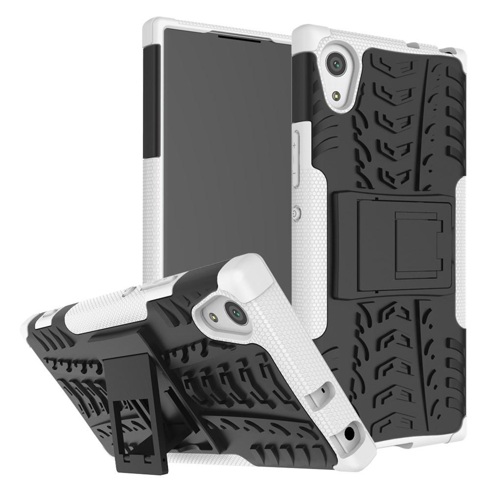 Чехол накладка для Sony Xperia XA1 G3112 противоударный с подставкой, белый