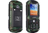 Водонепроницаемый кнопочный телефон Sigma Х-treme IT67 хаки
