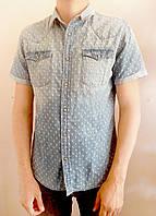 Распродажа! Мужская джинсовая рубашка на короткий рукав C&A. р. L, XL.