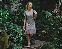 Платье с оборкой из фатина