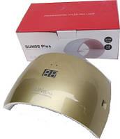Гибридная светодиодная UV/LED лампа Sun 9S Plus на 36 вт с дисплеем золотая.