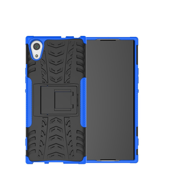 чехол накладка Sony Xperia XA1 противоударный синий