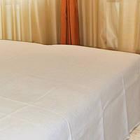 Простынь белый лен размер в ассортименте: 150*210, 215*240, фото 1