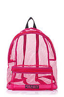 Молодежный розовый рюкзак в сеточку Украина