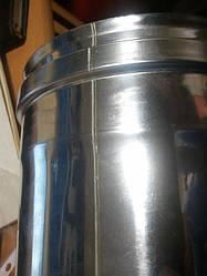 Трубы 0,5м для дымохода из нержавеющей стали с термоизоляцией в оцинкованном кожухе