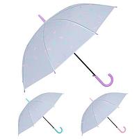 Зонт-трость полуавтомат ПВХ Перышки