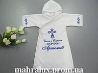 """Крестильная рубашка для мальчика """"Крылатый серафим"""""""
