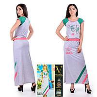 Женское летнее платье в пол. VOGUE 10249-R. Размер 44-46.