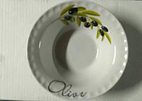 Миска солнышко фарфоровая 350 мл оливки