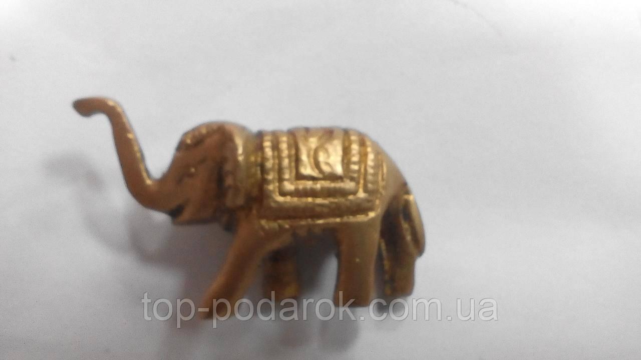 Статуэтка латунная слон размер 4.5*3 подставка под благовония