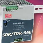 SDR/TDR-960 – мощные источники питания с пассивным охлаждением на DIN-рейку