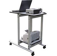 Столик мобильный для оргтехники UNIVERSAL mobile   80x46 / 40x40