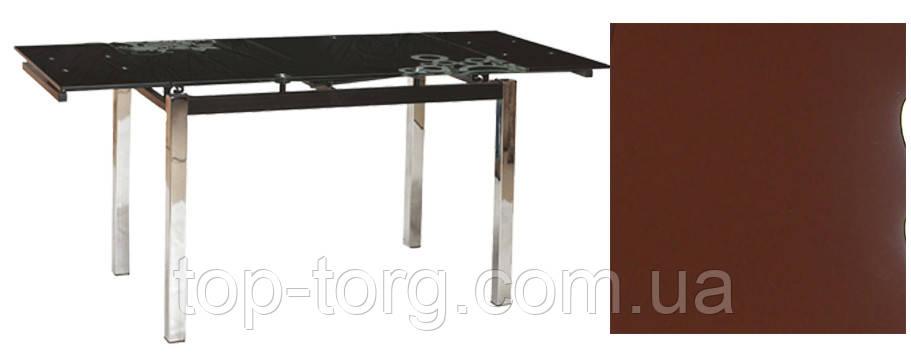 Стол ТВ014 коричневый 960(+2вставки по 30)х700мм, без узоров