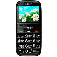 Телефон кнопочный бабушкофон Sigma Comfort 50 Slim чёрный