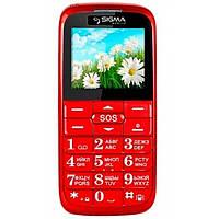 Телефон кнопочный бабушкофон Sigma Comfort 50 Slim красный