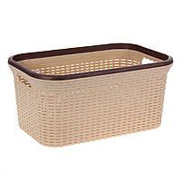 Козина для хранения вещей Violet  без крышки(кофе с молоком) 20 л