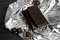 Кожаное портмоне 5.0 Шоколад. Ручная работа