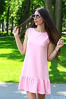 """Модное летнее короткое платье с рюшей внизу """"Мари"""""""