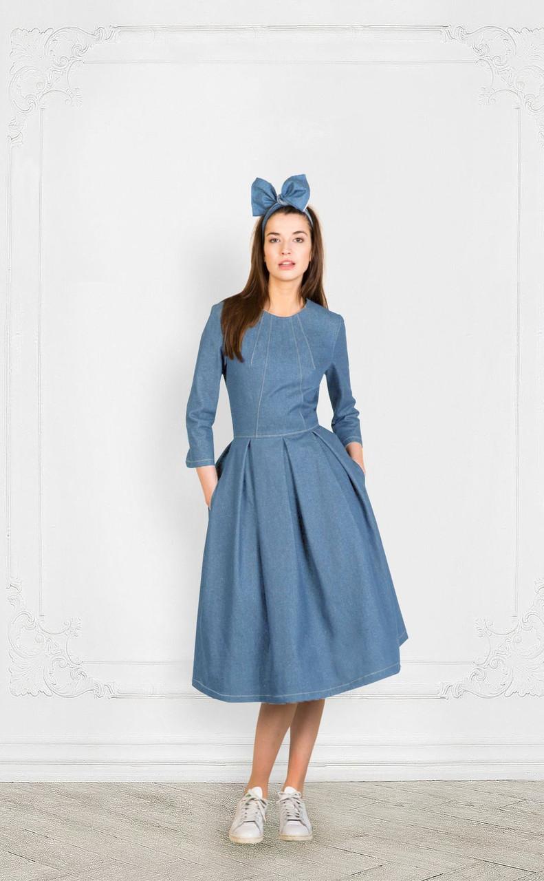 8fa60a1f13f Джинсовое платье миди  продажа