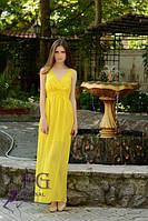 Сарафан легкий в пол желтый