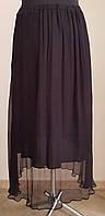Летняя шелковая юбка чёрного цвета (Франция).44-46,48-50,52-54р