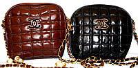 Женские брендовые клатчи Chanel BOY (черный; каштан)