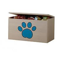 Ящик для игрушек гравированная голубая лапка щенка Baby Boo 100091