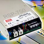 RSP-750 – новые AC/DC источники питания с ККМ от Mean Well