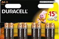 Батарейка Duracell AA MN1500 LR06 * 8шт (81417083)
