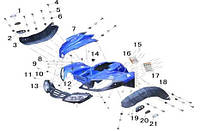 Пластик для квадроцикла 150-200 куб/см