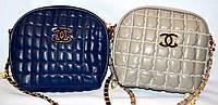 Женские брендовые клатчи Chanel BOY (синий; серый)