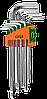 Ключі шестигранні 9шт 1,5-10 мм CrV (короткі шар)