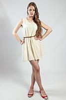 Платье летнее гипюровое с пояском кожаным
