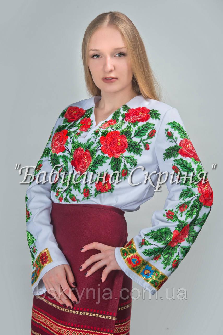 Заготовка Борщівської жіночої сорочки для вишивки нитками/бісером БС-69