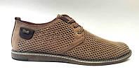 Мужские туфли-мокасины летние кожа цвет: оливка, черный Uk0452
