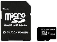 Silicon Power microSDHC 16Gb Class 10 (SP016GBSTH010V10)