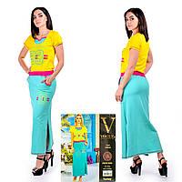 Женское летнее платье в пол. VOGUE 10254-R. Размер 44-46.