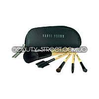 Набор кистей для макияжа Bobbi Brown 5 / Кисти Бобби Браун 5 в кошельке, фото 1