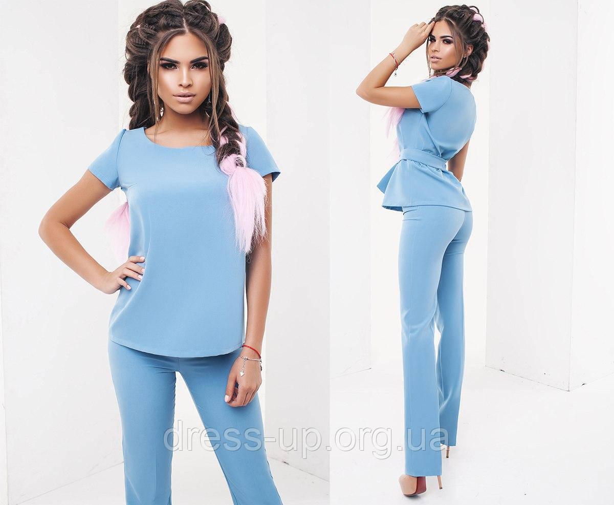 Голубой костюм женский доставка