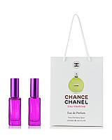 Парфюм 2 по 20  мл в подарочной  упаковке Chanel Chance Eau Fraiche для женщин