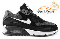 Мужские кроссовки Nike Air Max 90 GS Woven White Black Grey